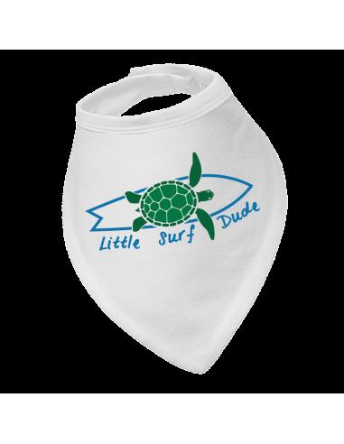 Baby bandana bib Little Surf Dude