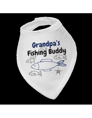 Baby bandana bib Grandpa's Fishing Buddy
