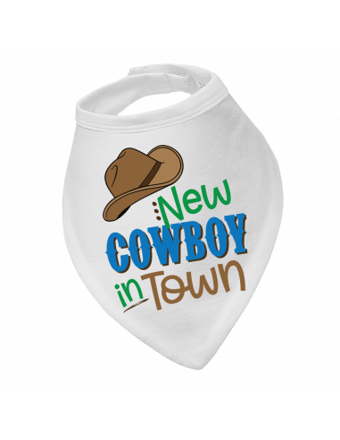 Baby bandana bib New Cowboy In Town