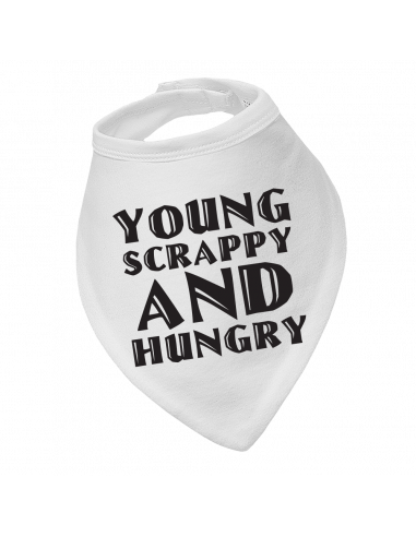 Baby bandana bib Young Scrappy And Hungry