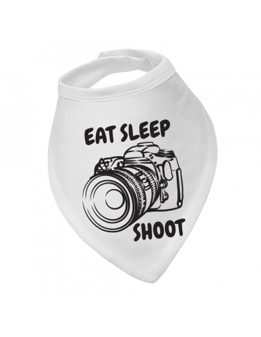 Baby bandana bib Eat Sleep Shoot