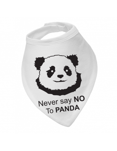 Baby bandana bib Never Say No To Panda