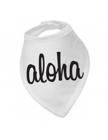 Baby bandana bib Aloha!
