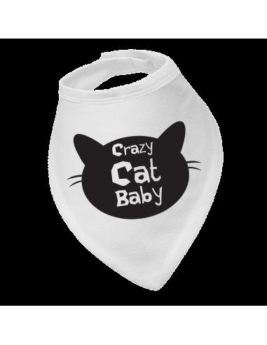 Baby bandana bib Crazy Cat Baby