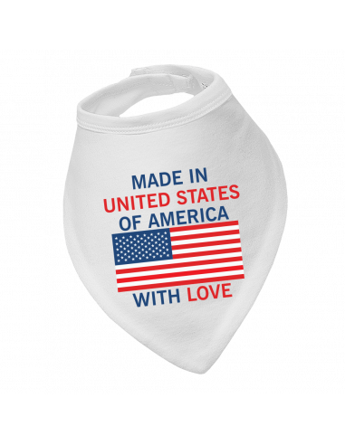 Baby bandana bib Made In United States Of America