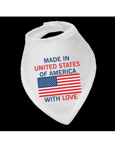 Baby bandana bib Made In United States Of America