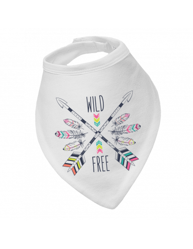 Baby bandana bib Wild Free Boho Style