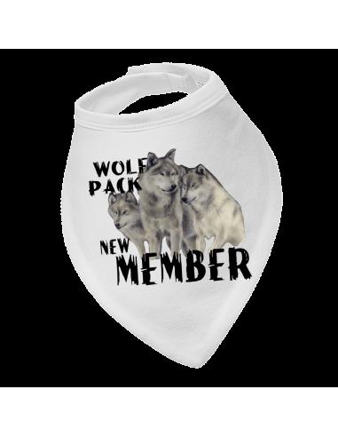 Baby bandana bibs, Wolf Pack New Member