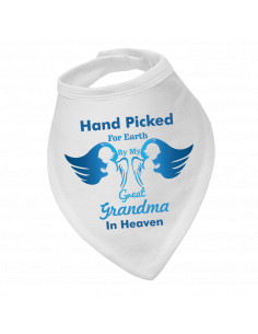 Baby bandana bibs, Hand Picked By My Great Grandma In Heaven