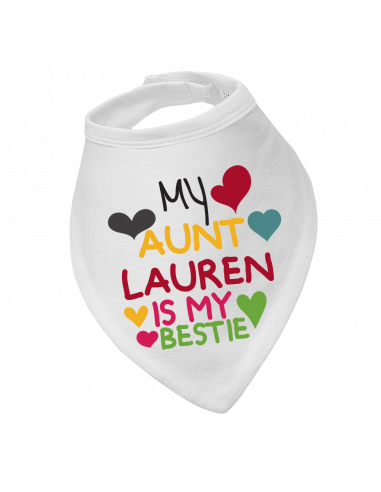 Baby bandana bib, My Aunt Any Name Is My Bestie