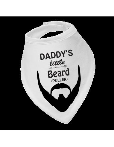 Baby bandana bib, Daddy's Little Beard Puller