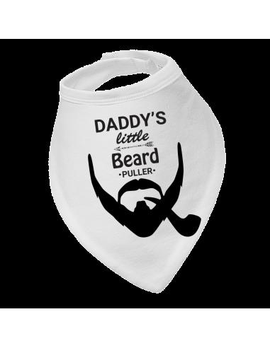 Baby bandana bib, Daddy's Little Beard Puller With Pipe