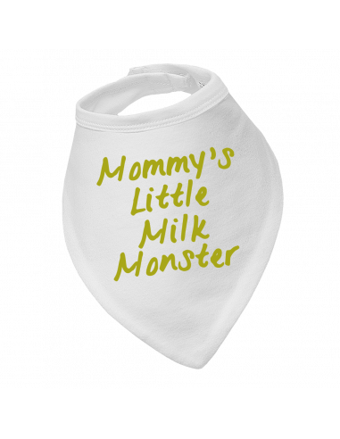 Baby bandana bib, Mommy's Little Milk Monster