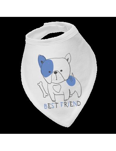 Baby bandana bib, Best Friend Dog