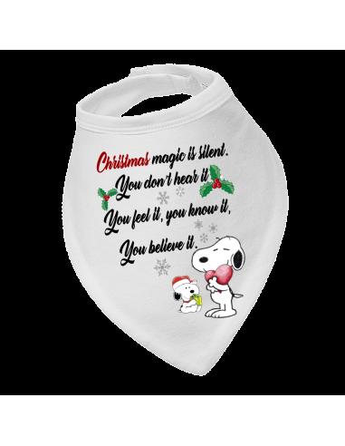 Baby bandana bib, Christmas Snoopy