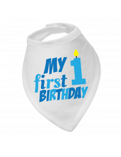 Baby Bandana Bib, My First Birthday, Baby Boy