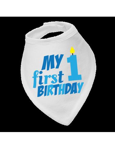 Baby Bandana Bib, My First Birthday, Baby Boy