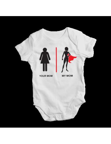 Your mom, my mom, baby bodysuit,