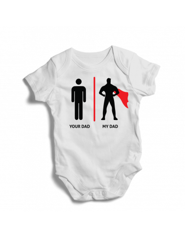 Your dad, my dad, baby bodysuit
