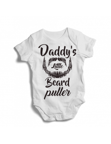 Daddy's little beard puller, baby onesies