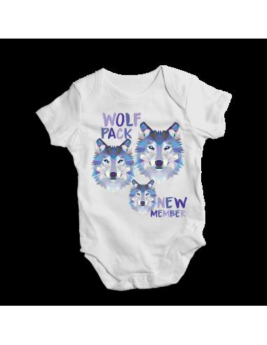 Wolf pack new member, baby bodysuit