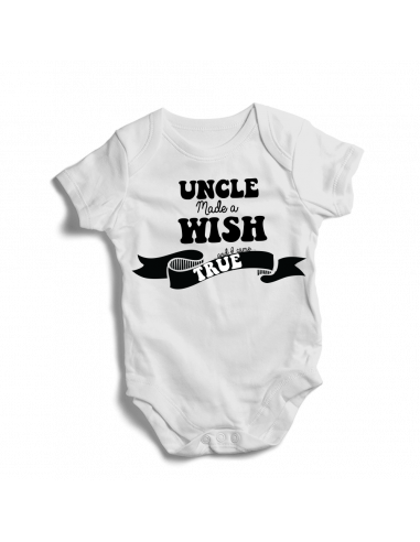 Uncle made a wish and I come true, baby bodysuit