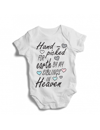 Hand picked for earth by my siblings in Heaven, baby bodysuit