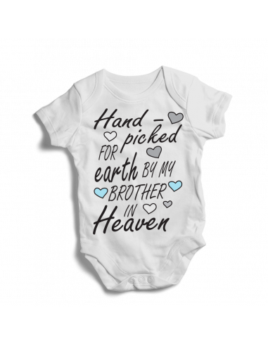 Hand picked for earth by my brother in Heaven, baby bodysuit
