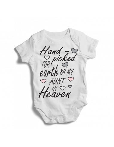 Hand picked for earth by my Aunt  in Heaven, baby bodysuit