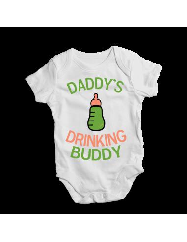 Daddy's drinking buddy, baby bodysuit
