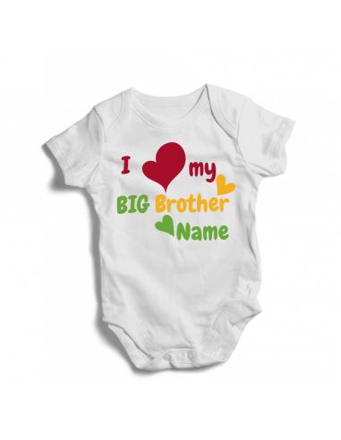 I love my big brother, personalsied baby bodysuit