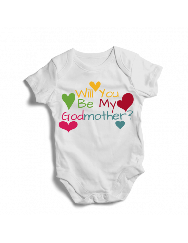 Will you be my godmother?  baby bodysuit