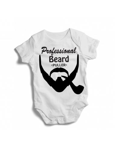 Professional beard puller with pype, baby bodysuit