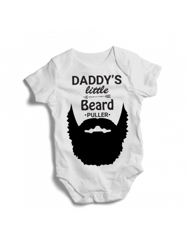 Daddy's little beard puller, baby bodysuit