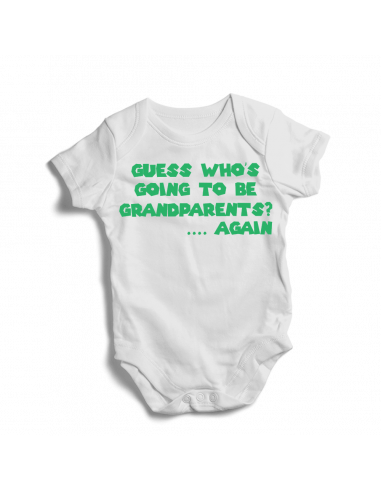 Guess who's going to be grandparents?....Again, baby bodysuit