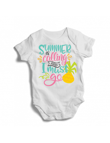 Summer is calling and I must go, adventure baby bodysuit