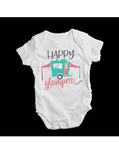 Happy glamper, camping baby bodysuit