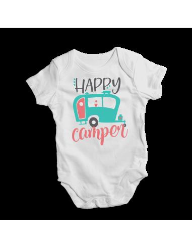 Happy camper, camping baby bodysuit
