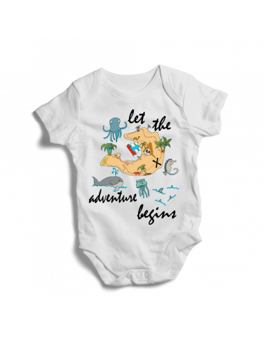 Let the adventure begin, baby bodysuit