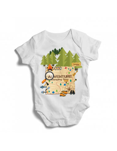 Adventure, camping time, baby bodysuit