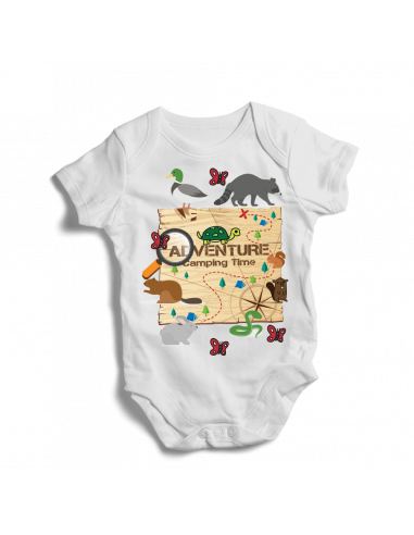 Adventure, camping time, trip baby bodysuit