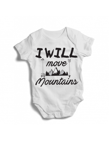 I will move mountains, baby bodysuit