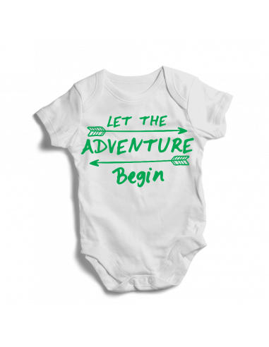 Let the adventure begin, boho baby bodysuit