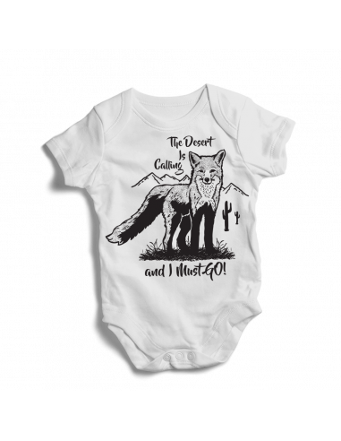 The desert is calling and I must go! Baby bodysuit