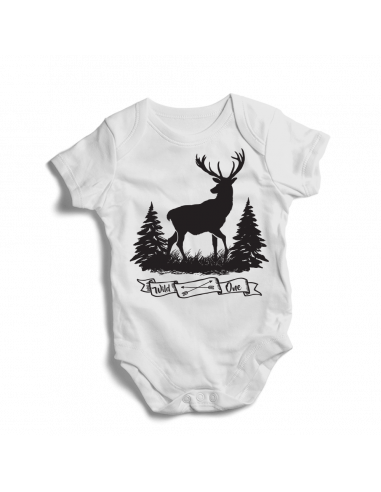 Wild one, hunting, baby bodysuit