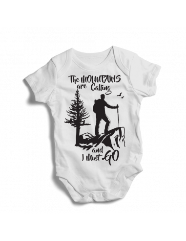 The mountains are calling and I must go! Baby mountains bodysuit
