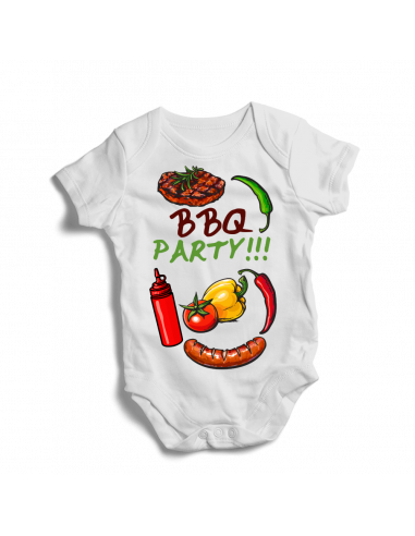 BBQ party, baby camping bodysuit