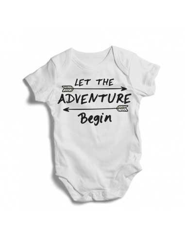 Let the adventure begin, cool baby bodysuit