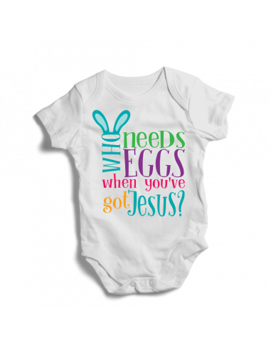 Who needs eggs when you've got Jesus? Baby bodysuit