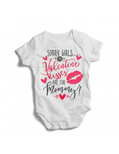 Sorry girls, valentine kisses are for mommy, baby bodysuit